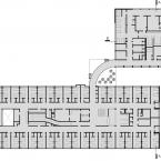 Primeiro Pavimento. Hospital S. Domingos. Jarbas Karman e Alfred Willer, 1958.