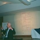 Jarbas Karman em palestra na Belas Artes - 2003.