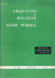 Capa da Arquivos de Higiene e Sa�de P�blica 92