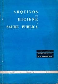 Capa da Arquivos de Higiene e Sa�de P�blica, 91