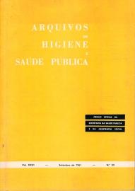 Capa Arquivos de Higiene e Sa�de P�blica, 89