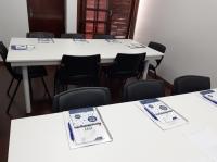 Sala preparada para receber os alunos